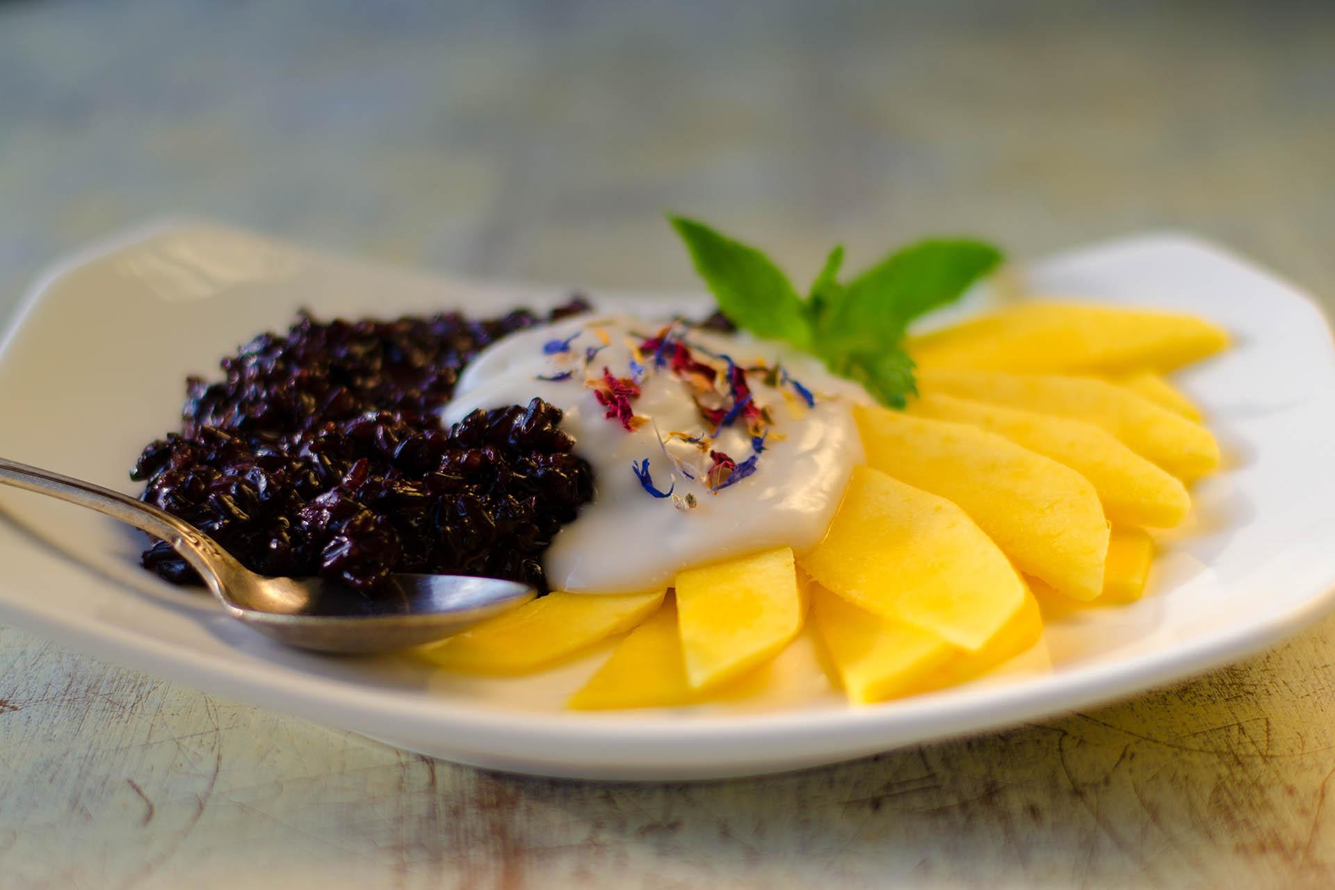 Sticky Reis Mit Mango und Kokosmilch