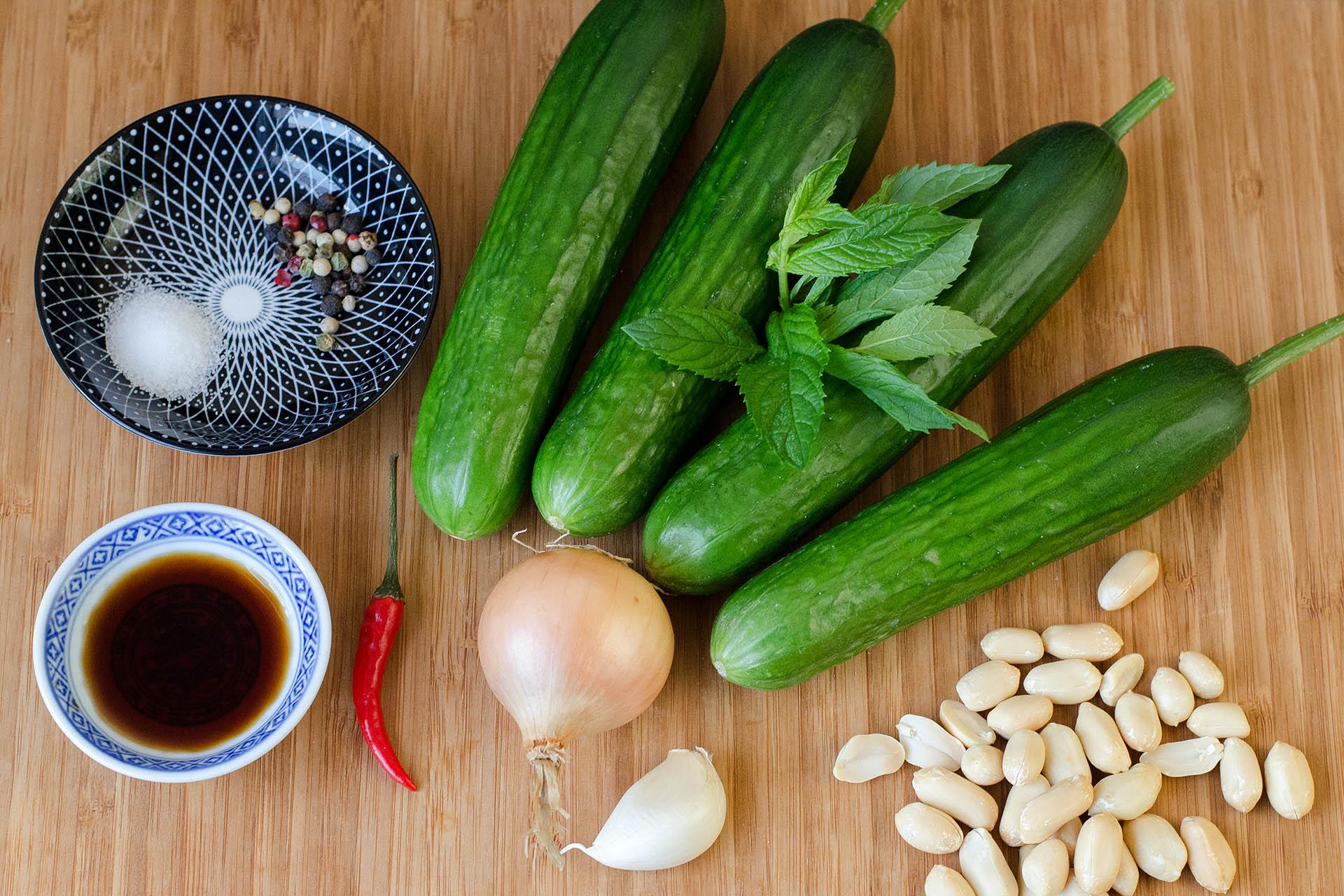 Zutaten Thailändischer Gurkensalat