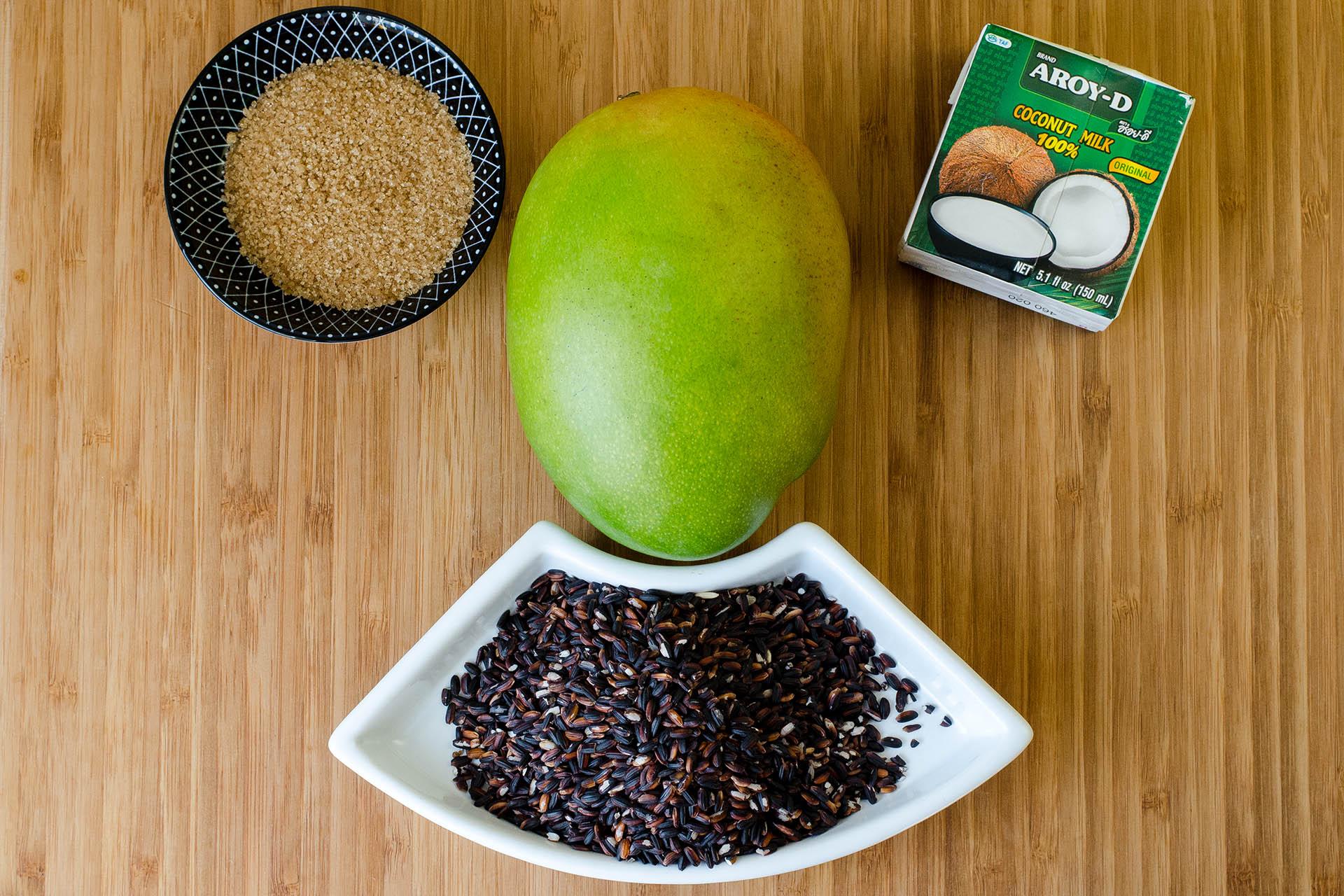 Zutaten für Sticky Reis mit Mango und Kokosmilch