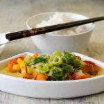 Grünes Curry mit Hokkaido Kürbis und Süßkartoffel